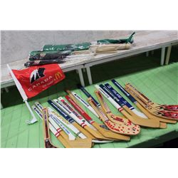 Hockey Mini-Sticks and Rough Rider Flags (Plus Extra)