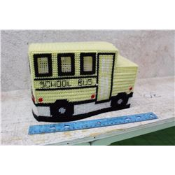 Crocheted School Bus Kleenex Box Cover