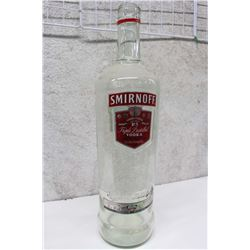 Large Smirnoff Glass Bottle 3 Litre