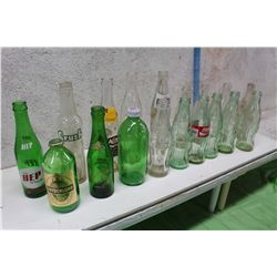 Assorted Glass Bottles (Fanta, Coke, Frydenlund, A&W Root Beer, Etc;)