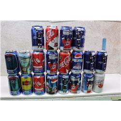 Lot of Hockey Themed Pepsi And Coke Cans (20)