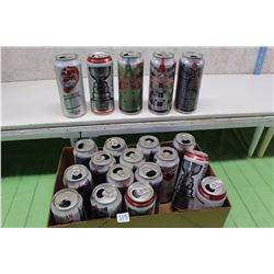 Lot of Don Cherry, Stanley Cup 0.47 Liter Molsaon Cans