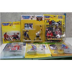 Starting Line Up 1996-1998 Series Figures With 200-2001 Figure (Wayne Gretzky, Mike Vernon, Sergi Fe