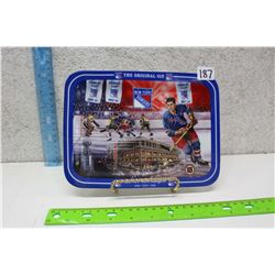 New York Rangers Commemorative Plate With Stand