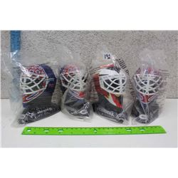 Lot of Jocelyn Thibault Goalie Mask Busts With Extra Kirk McLean Mask Bust (4)