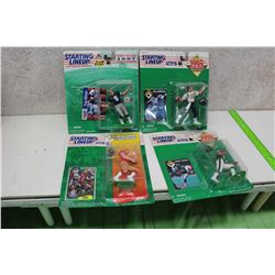 Starting Line Up NFL Figures (4)(Tony Aikman, Stan Humphries, Johnny Johnson, Brent Jones)