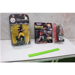 Assorted NFL Packaged Figures (3)(Ben Roethlisberger, Chad Pennington, Jerry Rice, Eddie George)