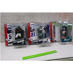 NFL Figures (3)(Donovan Mcnabb, Julius Jones, Ricky Williams)