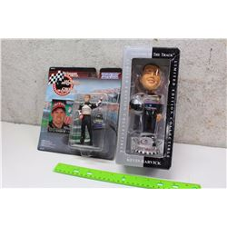 Nascar Bobby Labonte Figure With Kevin Harvick Bobble Head