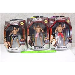 UFC Figures (3)(Jon Fitch, Rich Franklin, Forrest Griffin)