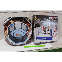UFC Octagon Playset And Pride Championship Ring UFC Collection