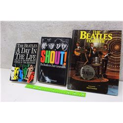Lot of Beatles Books (3)(The Beatles The Day In The Life, Shout! The Beatles in Their Third Generati