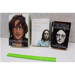 Lot of John Lennon Books (3)(John Lennon, Imagine This, The Lives of John Lennon)