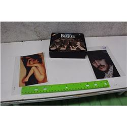 Pair of Beatles Prints With Beatles Calender Book