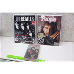 Beatles Cover Magazines With Beatles Book (Guitar Legends, People Weekly, The Longest Cocktail Party