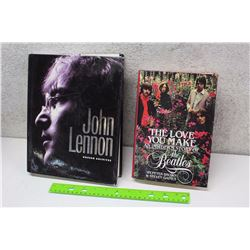 Lot of Beatles Books (2)(John Lennon, Unseen Archives, The Love You Make)