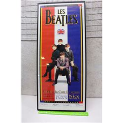 "Les Beatles French 30th Anniversary Lithograph (27.5"" x 12"")"
