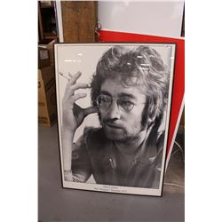 "John Lennon, The Imagine Sessions 1971, Custom Framed Poster, 25 ½"" x 35 ½"""