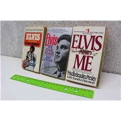 Lot of Elvis Presley Books (3)(Elvis A Biography, Elvis The Final Years, Elvis And Me)