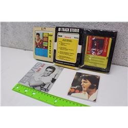 Three Elvis 8 Tracks With CD And Elvis Note Pad (Dreaming Love, Frankie And Johnny, Blue Hawaii, Elv