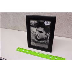 Framed Elvis Photograph With Stand