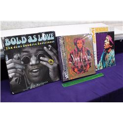 Lot of Jimi Hendrix Books (3)(Bold As Love, Jimi Hendrix The Ultimate Experience, A Musician's Colle