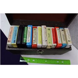 Lot of Misc 8 Tracks With Carrying Case