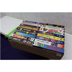 Box of Misc VHS Movies(18)