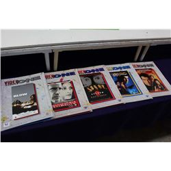 Lot Of Video One VHS Catalogs (5)