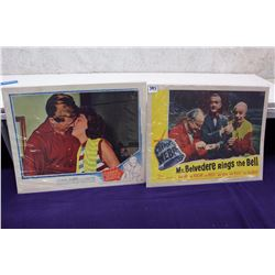 Pair of Original  Lobby Cards (Three Steps North 1950, Mr.Belvedere Rings the Bell 1951)