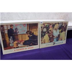 Pair of Original  Lobby Cards (A Thunder of Drums 1961, Exodus 1961)