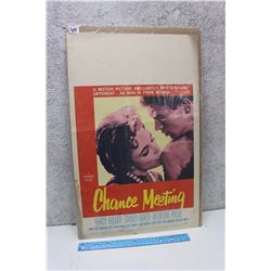 """Chance Meeting"" Original Drive-In Theater Poster (1960)"