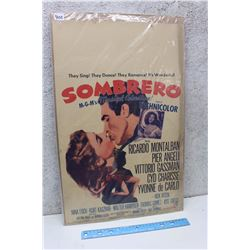 """Sombrero"" Original Drive-In Theater Poster (1953)"