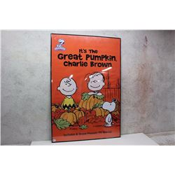 """It's The Great Pumpkin Charlie Brown"" Framed Original Poster (27"" x 40"")"