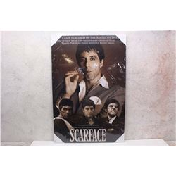 """Scarface"" Movie Poster Canvas Print (24"" x 36"")"