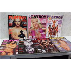 Lot of Playboy Magazines (7)(Various Dates 2001-2002)