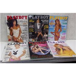 Lot of Playboy Magazines (6)(Various Dates 1995-2000)