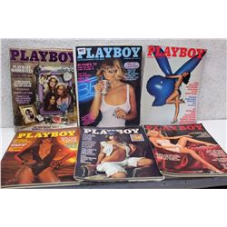 Lot of Playboy Magazines (6)(Various Dates 1981-77)