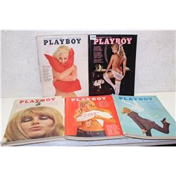 Lot of Playboy Magazines (5)(Various Dates 1974-69)