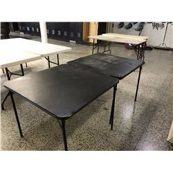 Pair of Black Square Card Tables