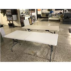 Pair of Plastic Fold Out Tables