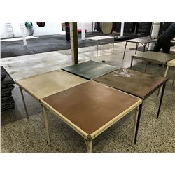 Lot of Fold Out Card Tables (4)