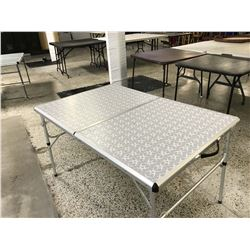 Metal Fold Out Table With Handle