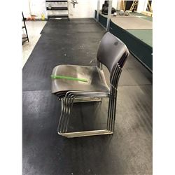 Lot of Metal Framed Stackable Seats (4)