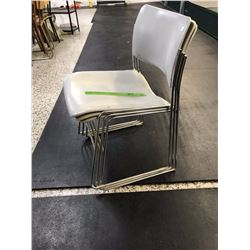 Lot of Metal Framed Stackable Seats (3)