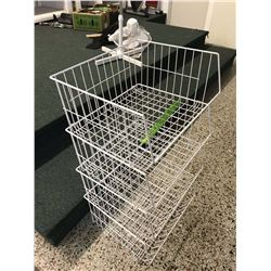 Lot of Basket Shelving