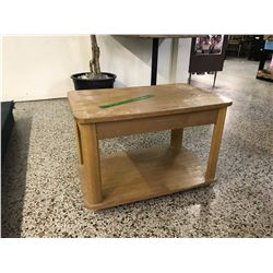Wood Table With Wheels