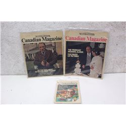 Pair of Pierre Trudeau Canadian Magazines With Homemakers Extra