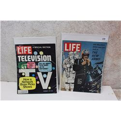 Pair of 1971 Life Magazines