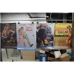 Lot of Movie Posters (5)(Farewell To The King, The Bounty Hunter)